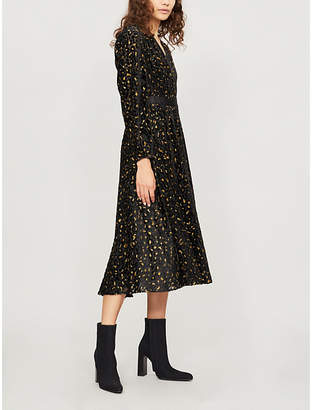 Diane von Furstenberg Leopard-pattern devoré wrap dress