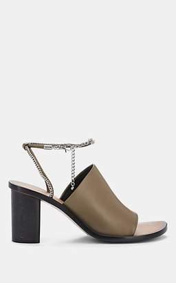 Rag & Bone Women's Nella Chain-Embellished Leather Sandals - Olive