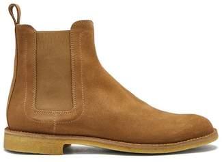 Bottega Veneta Round Toe Suede Chelsea Boots - Mens - Camel