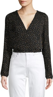 ASTR the Label Geometric-Print Cropped Top