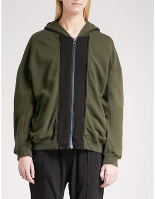 Haider Ackermann Panelled cotton-jersey jacket