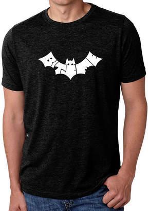 Blend of America LOS ANGELES POP ART Los Angeles Pop Art Men's Premium Word Art T-shirt - Bat - Bite Me