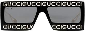 Gucci Mask-frame acetate sunglasses