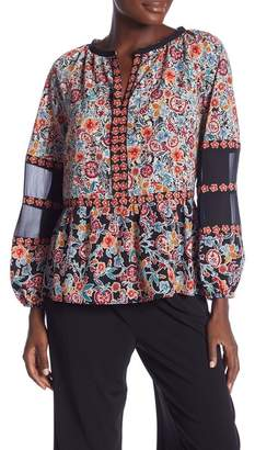 Laundry by Shelli Segal Print Baloon Sleeve Blouse