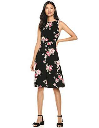 Chaps Women's Fit & Flare Floral Printed Jersey Dress