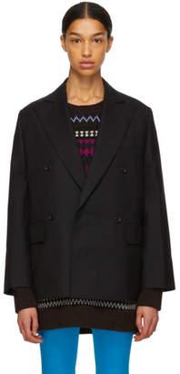 Junya Watanabe Black Oversized Serge Blazer