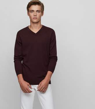 Reiss Earl Merino Wool V-Neck Jumper