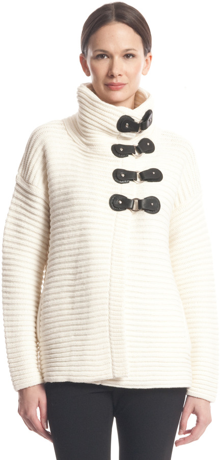 Tracy Reese Funnel Neck Cardigan