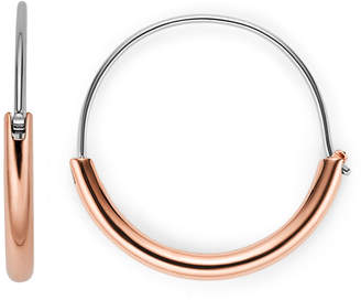 Fossil Rose Gold-Tone Steel Hoops
