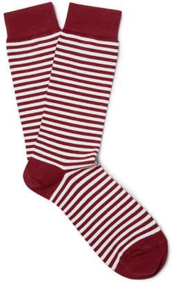 Sunspel Striped Stretch Cotton-Blend Socks
