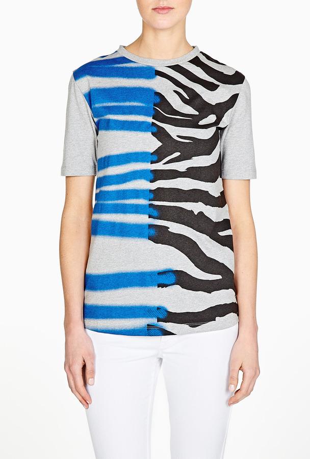 Être Cécile Zebra Stray Print Staple T-shirt