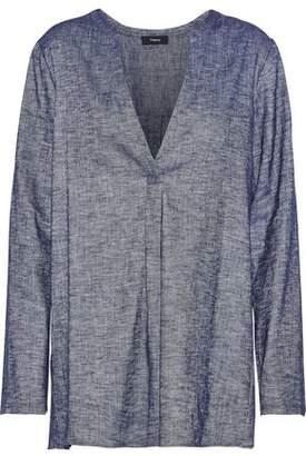 Theory Ofeliah Linen-blend Chambray Tunic