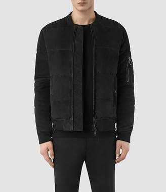 AllSaints State Suede Puffer Jacket