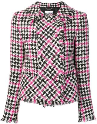 Moschino houndstooth tweed jacket