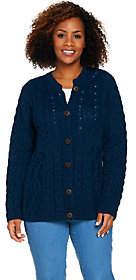 Kilronan Merino Wool Empire Waist Long SleeveCardigan