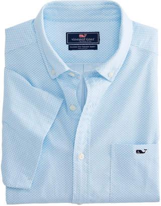 Vineyard Vines Big & Tall Mini Waves Short-Sleeve Classic Tucker Shirt