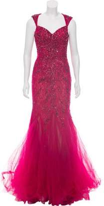 Mac Duggal Embellished Mermaid Gown w/ Tags