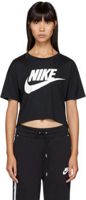 Nike Black Essential Cropped T-Shirt