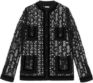 Gucci GG macramé jacket