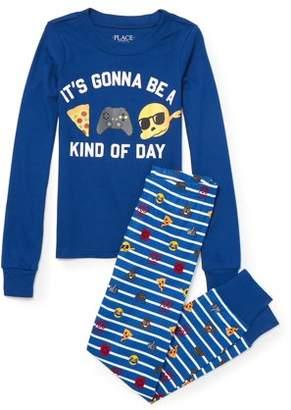 Children's Place The Childrens Place Long Sleeve Gamer Emoji Pajama 2 Piece Pant Set (Little Boys & Big Boys)