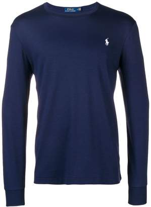 Polo Ralph Lauren embroidered logo long-sleeved T-shirt