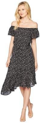 Lucky Brand Ditsy Asymmetrical Dress Women's Dress