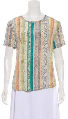 Equipment Silk Short Sleeve Top