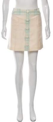 Courreges Plaid-Accent Mini Skirt