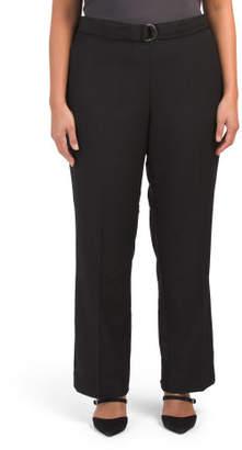Plus Wide Leg Bi Stretch Trousers