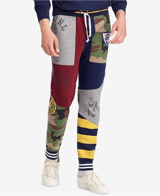 """Polo Ralph Lauren Men's Patchwork Fleece 27.5"""" Jogger Pants"""