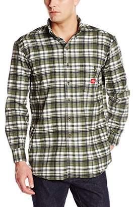 Dickies Men's Flame-Resistant Sleeve Plaid Shirt