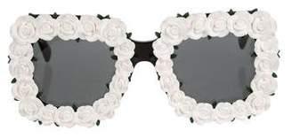 Dolce & Gabbana Floral Oversize Sunglasses