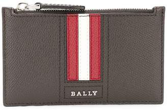 Bally Tenley striped zipped coin pouch