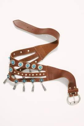Leather Rock Giddy Up Embellished Waist Belt