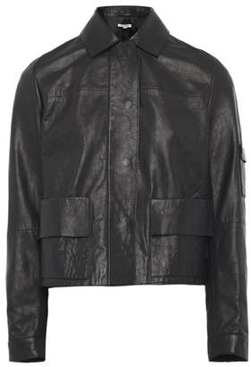 Nicole Farhi Black Avie Budgie Leather Jacket