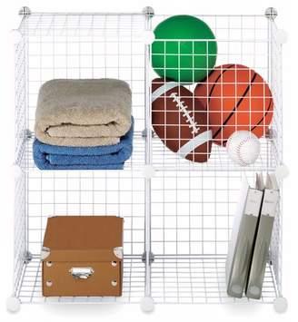 Whitmor Storage Cubes White Set of 4
