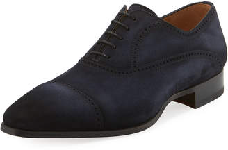 Magnanni Brogue Leather Lace-Up Oxford