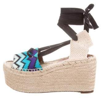 Missoni Chevron Platform Wedges