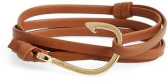 Miansai Gold Hook Leather Bracelet