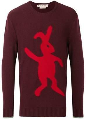 Marni bunny-intarsia jumper