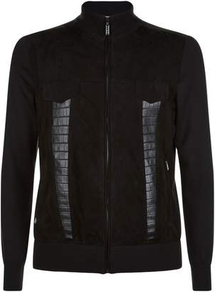 Zilli Suede Front Knitted Jacket