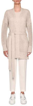 Agnona Knitwear Cashmere Net Relax Cardigan