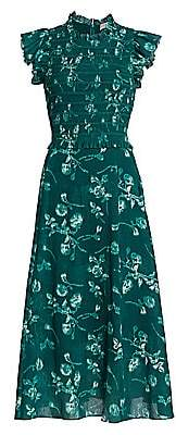 Sea Women's Monet Smocked Floral Maxi Dress - Size 0
