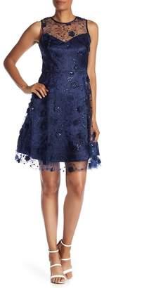 Taylor Embellished Illusion Dress