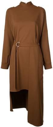 Tibi Chalky asymmetric mid-length dress