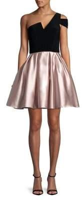 Betsy & Adam Asymmetric Fit-&-Flare Dress