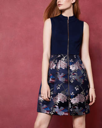 Ted Baker BOBYD Chinoiserie Jacquard zipped dress