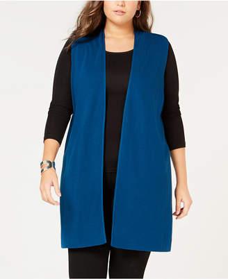 Alfani Plus Size Long Sweater Vest, Created for Macy's