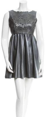 Giles Metallic Laser Cut Dress