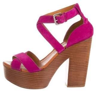 Ralph Lauren Bicolor Platform Sandals